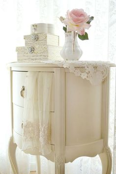 Lovely Vintage Night Stand with Nesting Boxes