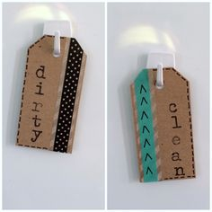 Rock Paper Feather: Quick Craft: Dirty/Clean Dishwasher Magnets