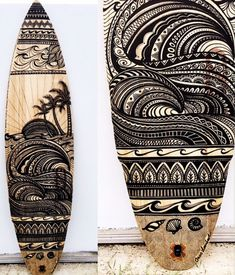 Custom Surfboard Art by Jess Lambert A collection of my custom designed surfboards for home and business decor. To enquire about a custom surfboard artwork email: contact@ or visit my website .au Image and artwork is copyright of Jess Lambert Surfboard Painting, Surfboard Art, Vw Caravan, Custom Surfboards, Longboard Design, Posca Art, Surf Decor, Surf Design, Surf Art