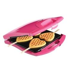 Babycakes Nonstick Waffle Maker Makes 4 Heart Waffles on Sticks,: $29.99