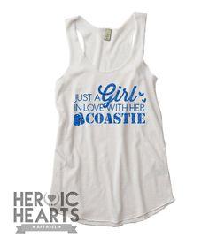 Just A Girl In Love Coast Guard Racerbank Tank - Heroic Hearts Apparel