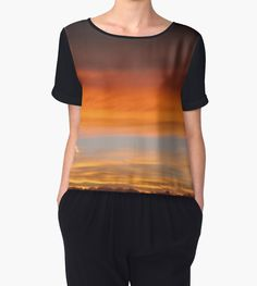Sunset Chiffon Top by Scar Design #plaidgifts #plaidclothes #plaidshirt #plaidtshirt #plaidlove #women #womengifts #giftsforteens #giftsforgirls #giftsforgirlfriends #coolgifts #womenfashion #style #stylish #stylishclothing #trendy #coolshirts #fashion #giftsforher #plaid #buyshirt #buychiffontop
