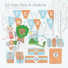 "Celebraciones Caseras: kit de fiesta para niño ""Nariz de Zanahoria"""