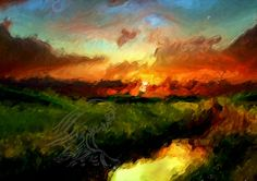 Killian Ward - Sky on Fire - Digital Art
