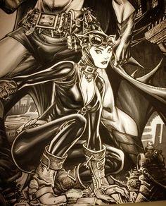 Catwoman by Paolo Pantalena * Batman And Catwoman, Batman Art, Comic Book Artists, Comic Books, Gotham Bruce, Female Villains, Cat Women, Batman Universe, Batman Family
