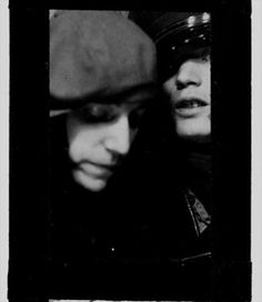Attori famosi del passato in fototessere - Patti Smith e Robert Mapplethorpe