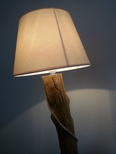 wood and lamp