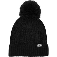 Converse Knit Hat with Pom – black ($15) ❤ liked on Polyvore featuring accessories, hats, black, pompom hat, knit pom hat, black knit hat, black pom-pom hats and converse hat