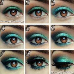 1000 images about maquillaje on pinterest eye makeup - Colores verdes azulados ...