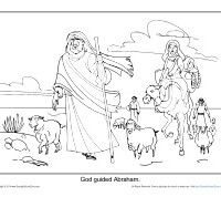 God Guided Abraham Printable Coloring Sheet