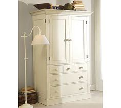 Charlotte Armoire #potterybarn....instead of a hutch since I cannot find one I like anywhere?