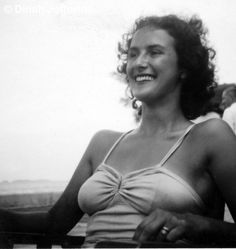Dinah's Mum in the sun - Penguin, Family Photos, Bikinis, Swimwear, 1950s, Camisole Top, England, Sun, Tank Tops