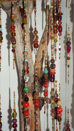 Glass Beaded Mobile by SillyHobbies on Etsy, $35.00