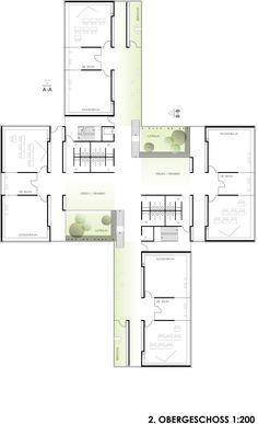3. Preis: © Architekten Gaiser + Partner, stadt landschaft plus Landschaftsarchitekten GmbH School Floor Plan, Office Floor Plan, School Plan, Masterplan, Concept Architecture, Plan Design, Hans Thoma, Primary School, Planer