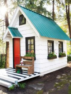 Shed Plans - Upcycled sheds are all the rage with she sheds and pub sheds ranking far above the rest. Here are my picks for other ways to use your tiny backyard extension. Now You Can Build ANY Shed In A Weekend Even If You've Zero Woodworking Experience! Shed Plans 8x10, Wood Shed Plans, Free Shed Plans, Backyard Sheds, Outdoor Sheds, Garden Sheds, Nice Backyard, Backyard Storage, Garden Tools