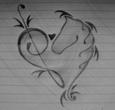 I FOUND IT!! MY FIRST TATTOO!!!  YAYAYAYAYAY Treble Clef-Horse Heart by squidley015.deviantart.com on @deviantART