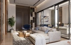 Taking Interiors to the next level? Here's a luxurious, high-end Interior design transformation of a Residential Home. Residential Interior Design, Home Interior Design, Interior And Exterior, Empire Design, New York Penthouse, High Class, Interiors, Stone, Luxury