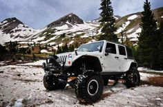 "Jeep JK running the BDS 6.5"" Long Arm Kit, Currie RockJock 60s, and 38"" BFGs."