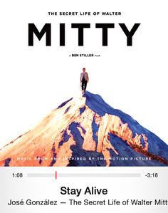 I ADORE this song- it's from the end credits of The Secret Life of Walter Mitty
