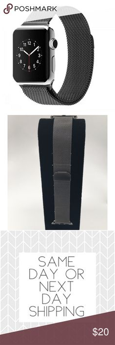 Space Grey Milanese Loop Apple Watch Band 38mm ➡️Discount Only With Bundle Of 2 Or More Items⬅️ This Band Fits Series 1,2&3 Apple Watches 38mm Features Include: •High Quality Stainless Steel  •Milanese Mesh  •Strong Magnetic Closure  •Brand New In Package 🔸Same Or Next Business Day Shipping 🔸 Accessories