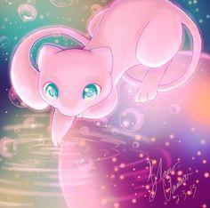 Mew And Mewtwo, Pokemon Firered, Pokemon Fan Art, Cute Animal Drawings, Kawaii Drawings, Pokemon First Generation, Pokemon Pink, Mermaid Gifs, Pokemon Realistic