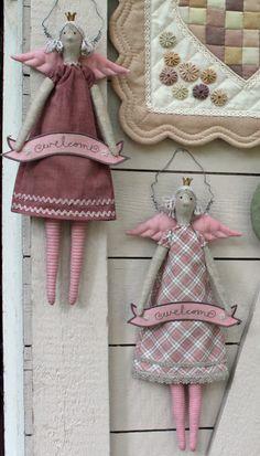 Ulla's Quilt World: Tilda angels