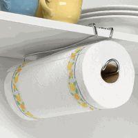 Under the Shelf Paper Towel Holder - $7 @Organize.com