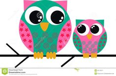 Cartoon Owls Royalty Free Stock Photos - Image: 20743338