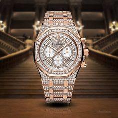 Audemars Piguet Royal Oak Chronograph Diamonds 39mm   #AudemarsPiguet #AudemarsPiguetWatch #AudemarsPiguetWatches #AP #APWatch #APWatches #RoyalOak Dream Watches, Luxury Watches, Cool Watches, Rolex Watches, Audemars Piguet Watches, Audemars Piguet Royal Oak, Expensive Watches, Chronograph, Bling