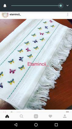 Cross Stitch Borders, Cross Stitch Patterns, Kurtha Designs, Crochet Bedspread, Diy And Crafts, Weaving, Bargello, Butterfly Cross Stitch, Crochet Home