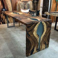 Instagram Live Edge Furniture, Resin Furniture, Woodworking Furniture, Woodworking Store, Diy Resin Table, Epoxy Wood Table, Wood Table Design, Wood Slab, Furniture Inspiration