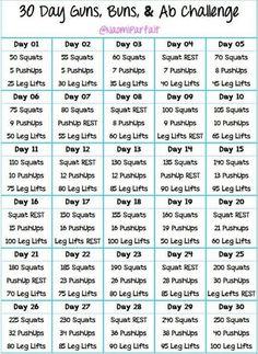 30 Day Guns, Buns & Ab Challenge