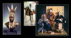 Untitled Document Halloween Painting, Polymer Clay Dolls, Mixed Media Artwork, Miniature Christmas, Fairy Art, Dollhouses, Figurative Art, Pumpkins, Art Dolls