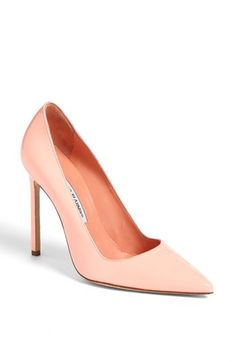 Manolo Blahnik 'BB' Pointy Toe Pump available at #Nordstrom, your staple go to heels for a very long time! in black or nude