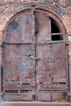 A rusty door