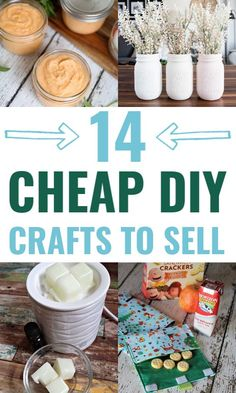 Cheap Homemade crafts to sell! I love all of these trending crafts to sell in These will be the most popular craft fair items that are sure to sell out quick! The post 14 Cheap Homemade Crafts To Sell For A Profit appeared first on Easy Crafts. Easy Diy Crafts, Diy Crafts To Sell, Diy Crafts For Kids, Fun Crafts, Simple Crafts, Sell Diy, Craft Ideas, Craft Fair Ideas To Sell, Kids Diy