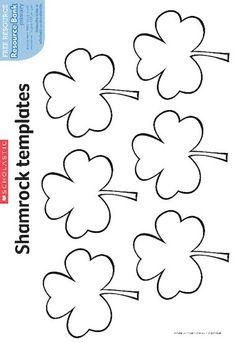 Printable Shamrock Template  Printable Templates  Free Printable