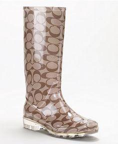 Coach Rain Boots <3