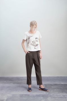 Rachel Comey PFa2013 Look 13  Absolutely LOVE the symbolism of motherhood in that tee.
