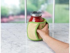 Protect your hands hand handle those hot, wet and slippery jars with more confidence with Ball's Secure-Grip Hot Jar Handler.