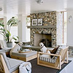 outdoor fireplaces Archives - Design Chic