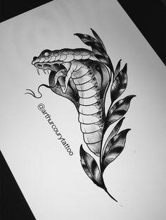 Snake, Cobra www.instagram.com/arthurcourytattoo
