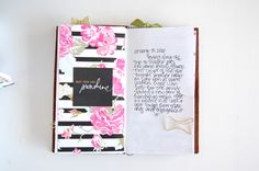 Becky Homick | @felicity_jane | Susie - traveler's notebook layout - pretty paper and journaling