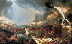 Title: Destruction (1835) By: Thomas Cole (The Course of Empire)
