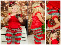 Girls Christmas Outfit // Toddler Christmas Outfit // 3 Piece Set // Lace Shirt And Lace Pants // Red And Green // girls Holiday Outfit Christmas Dresses For Tweens, Matching Christmas Outfits, Toddler Christmas Outfit, Casual Holiday Outfits, Girls Christmas Dresses, Holiday Party Outfit, Toddler Outfits, Kids Outfits, Girly