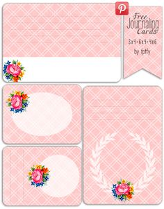 Hundreds of Free Printable Project Life Journaling Card Insert Sets