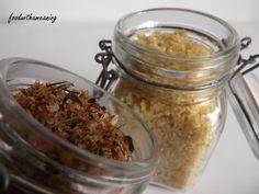 sal picante para grelhados e flor de sal com pólen