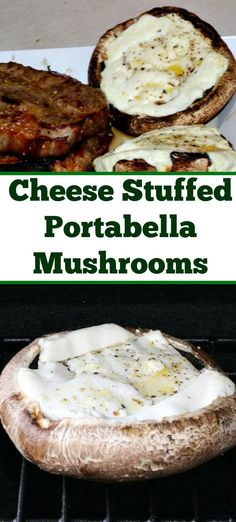 Cheese Stuffed Portabella Mushrooms Recipe - Guy Who Grills Grilling Recipes - . - Cheese Stuffed Portabella Mushrooms Recipe – Guy Who Grills Grilling Recipes – … – Cheese - Mushroom Appetizers, Mushroom Recipes, Yummy Appetizers, Vegetable Recipes, Vegetable Drinks, Veggie Dishes, Side Dishes, Grilled Mushrooms, Recipes