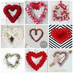 97 Beautiful DIY Valentine's Day Arts and Crafts to give away your loved one … - Easy Yarn Crafts Easy Yarn Crafts, Wreath Crafts, Diy Wreath, Valentine Day Wreaths, Valentine Day Crafts, Happy Valentines Day, Crafts For Seniors, Crafts For Kids, Arts And Crafts