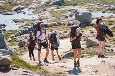 July Norway tourist route on the trolltunga. People tourists go hiking in the mountains of Norway in fine sunny weather to thetrolltunga. Norway People, Casual Evening Dresses, Sunny Weather, Go Hiking, Hiking Backpack, Birds In Flight, Editorial Photography, Sunnies, Mexico